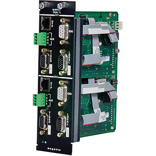 Magenta Research MultiView Morph-It-SA Double Slot Video, Stereo Audio & Duplex Serial Dual Transmitter Card