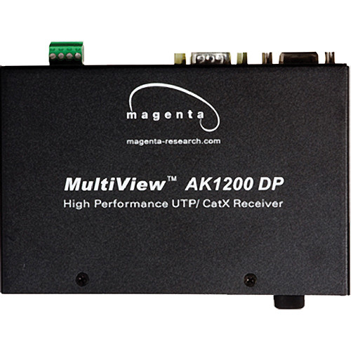 Magenta Voyager AK1200DP-SAP MultiView Video, Stereo Audio, Pollable Duplex-Serial CAT5 Receiver with AkuComp II