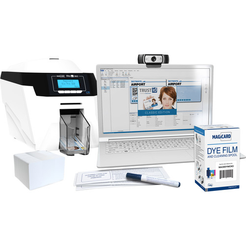 Magicard Rio Pro 360 System for Rio Pro 360 Double-Sided ID Card Printer with Magnetic Stripe Encoder