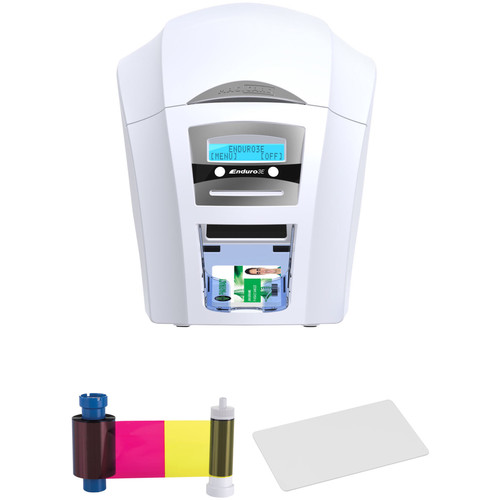 Magicard Enduro3E Duo Dual-Sided ID Card Printer with YMCKO Ribbon & 500 Cards Kit