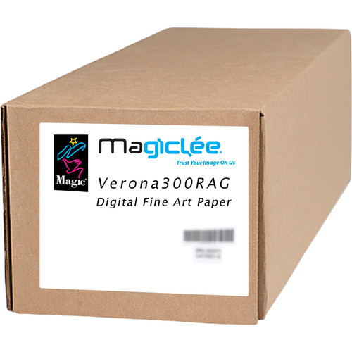 "Magiclee Verona 300 RAG High Definition Matte Rag Paper (17"" x 35' Roll)"