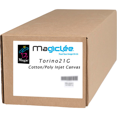 "Magiclee Torino 21G Poly/Cotton Blend Glossy Inkjet Canvas (50"" x 50' Roll)"