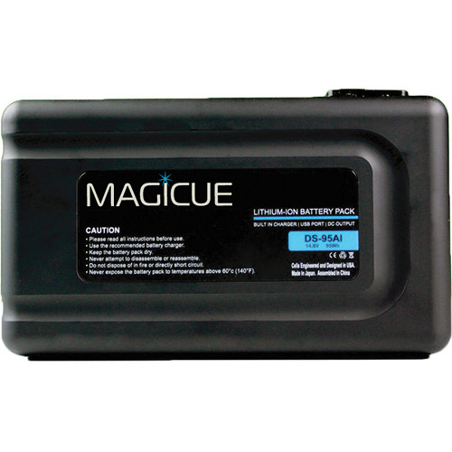 MagiCue MAQ-BT-95AI Gold Mount Battery with Built-In Charger (95 Wh)