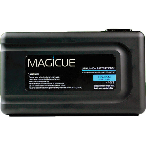 MagiCue MAQ-BT-95SI V-Mount Battery with Built-In Charger (95 Wh)