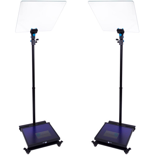 """MagiCue Stage Master Presidential Prompter Package with Hard Case (Pair, 19"""" LCD)"""