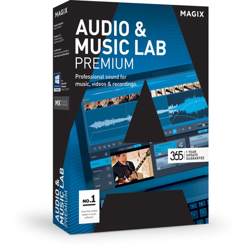 MAGIX Entertainment Audio & Music Lab Premium - Music Production Software (5-99 Tier Site-License, Download)