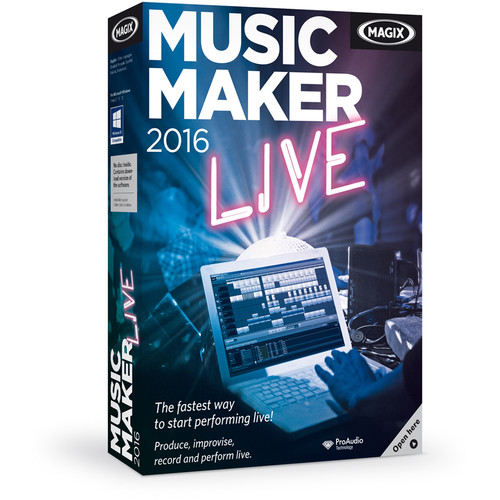 MAGIX Entertainment Music Maker Live - Music Production Software (5-99 Tier Site-License, Download)