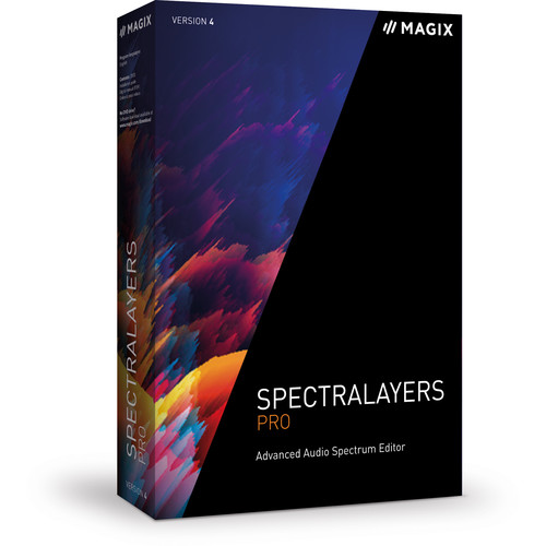 MAGIX Entertainment SpectraLayers Pro 4 Upgrade - Advanced Audio Spectrum Editor (5-99 Tier Site-License, Download)