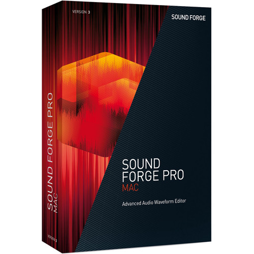 MAGIX SOUND FORGE PRO Mac 3 Upgrade - Audio Waveform Editor (Educational 5-99 Tier Site-Licenses, Download)