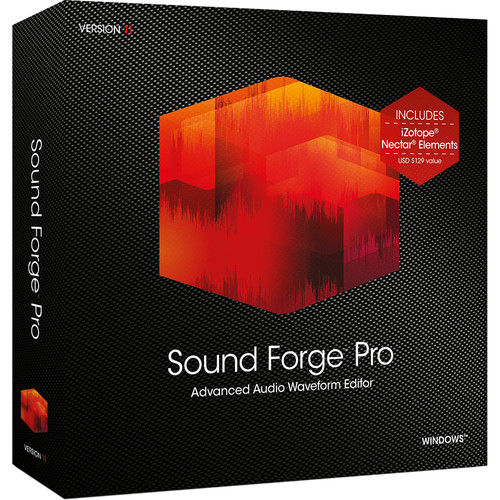 MAGIX Entertainment Sound Forge Pro 11 - Audio Waveform Editor (Educational 5-99 Tier Site-Licenses, Download)