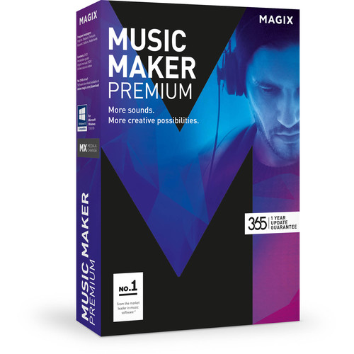 MAGIX Entertainment Music Maker Premium Edition - Music Production Software (5-99 Tier Site-License, Download)