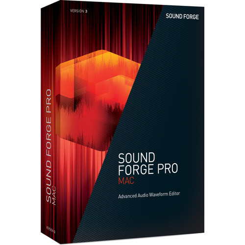 MAGIX Entertainment Sound Forge Pro Mac 3 - Audio Waveform Editor (Educational 5-99 Tier Site-Licenses, Download)
