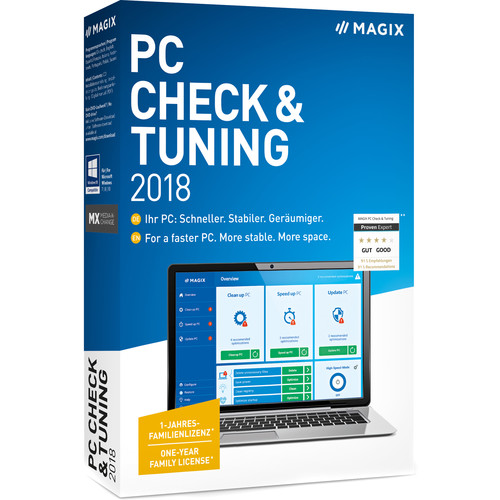 MAGIX Entertainment PC Check and Tuning 2018 (Academic, Volume 100+, Download)