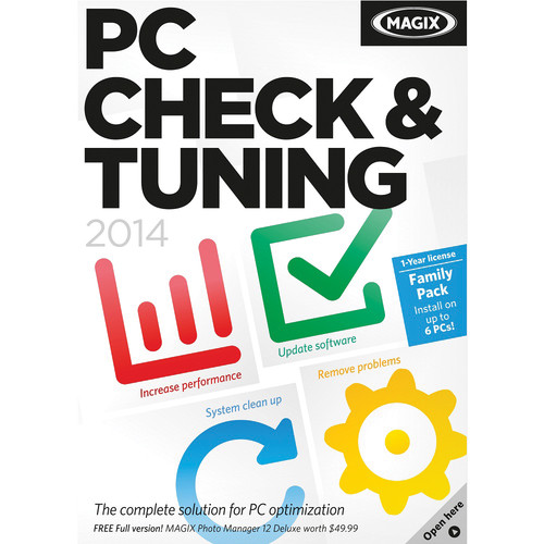 MAGIX Entertainment PC Check and Tuning 2014 (1-Year License, Download)
