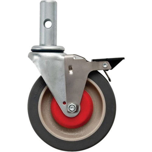 """Magliner 5"""" Thermoplastic Flat Tread Swivel Caster with Brake"""