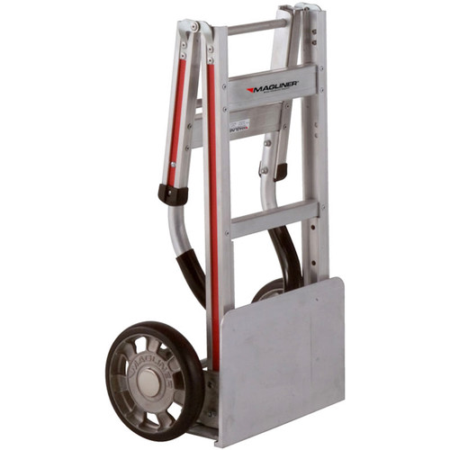 "Magliner FTA19E11L Straight-Back Folding Hand Truck with 8"" Mold-On Rubber Wheels"