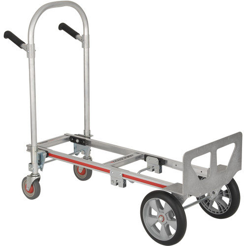 "Magliner Gemini Jr. Convertible Hand Truck with 10 x 2.75"" Microcellular Foam Wheels"