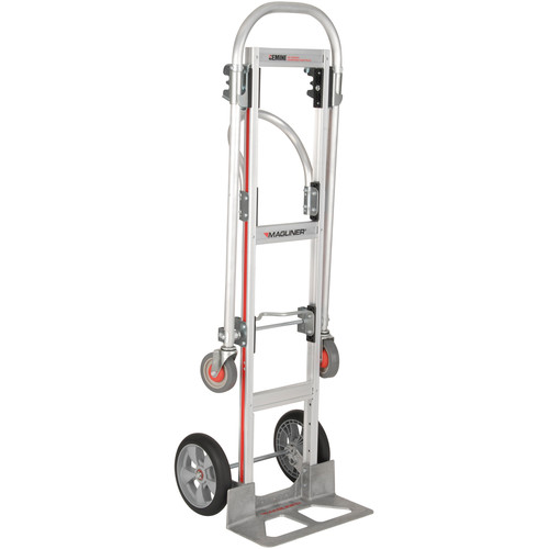 "Magliner Gemini Sr. Convertible Hand Truck with 10 x 2.75"" Microcellular Foam Wheels"