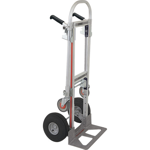 "Magliner Gemini Jr. Convertible Hand Truck with 10"" 4-Ply Pneumatic Wheels (Unassembled)"