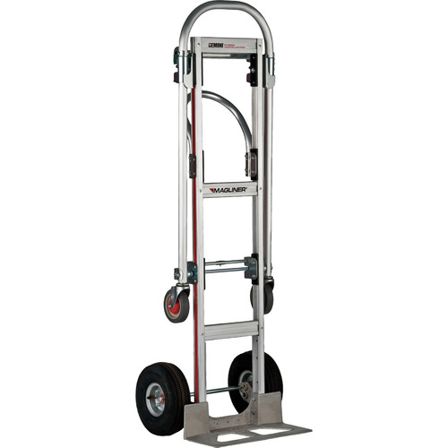 "Magliner Gemini Sr. Convertible Hand Truck with 10"" 4-Ply Pneumatic Wheels (Unassembled)"