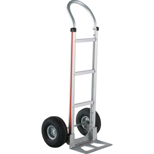 "Magliner HMA111AA4 Straight-Back Hand Truck with 10"" 4-Ply Pneumatic Wheels"