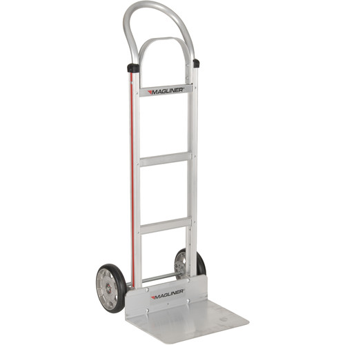 "Magliner HMA112K11 Straight-Back Hand Truck with 8"" Mold-On Rubber Wheels and Brace"