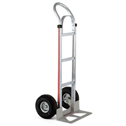 """Magliner Straight Back Hand Truck with 10"""" 4-Ply Pneumatic Wheels"""