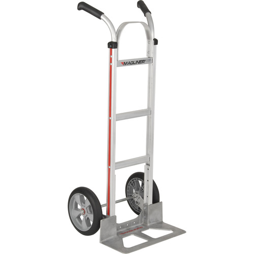 "Magliner HMA116UAF Straight-Back Hand Truck with 10"" Microcellular Foam Wheels and Double-Grip Handle"
