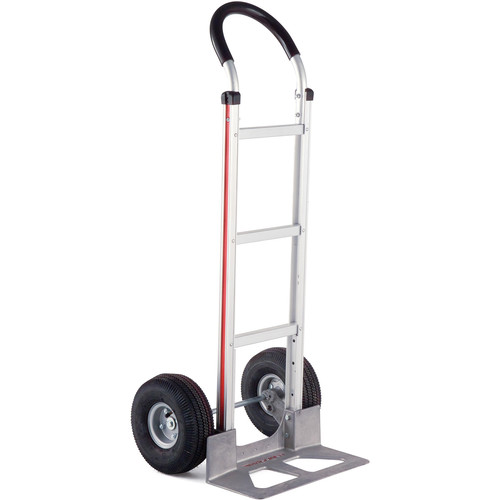 """Magliner Straight Back Hand Truck with 10"""" 4-Ply Pneumatic Wheels and Brace"""