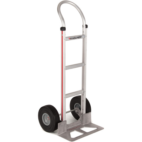 """Magliner Straight Back Hand Truck with 10"""" Microcellular Foam Wheels"""