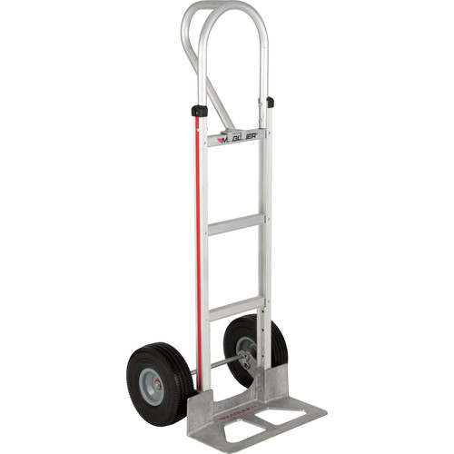 "Magliner HMA15AUAC Straight-Back Hand Truck with 10"" Microcellular Foam Wheels and Vertical Loop Handle"