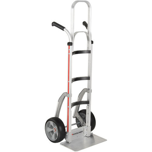 "Magliner Curved-Back Hand Truck with 10"" Interlocked Microcellular Foam Wheels"