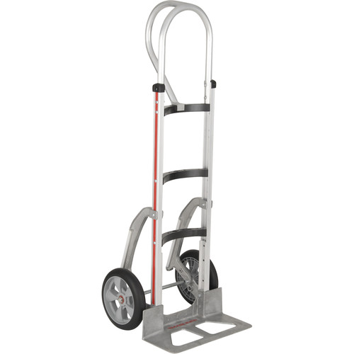 """Magliner HMA55AUAF5 Curved-Back Hand Truck with 10"""" Microcellular Foam Wheels and Vertical Loop Handle"""