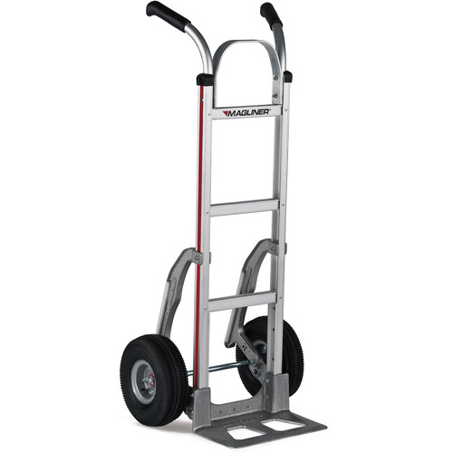 "Magliner Straight-Back Hand Truck with 10"" 4-Ply Pneumatic Wheels"