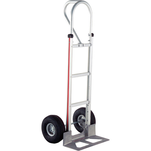 "Magliner HMK15AUA4 Straight-Back Hand Truck with 10"" 4-Ply Pneumatic Wheels and Vertical Loop Handle (Unassembled)"
