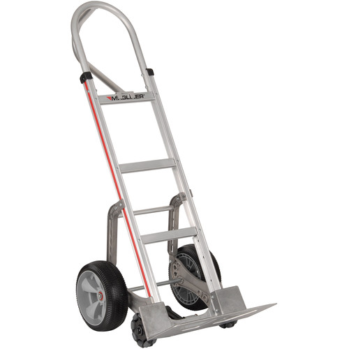 Magliner Straight Back Frame Hand Truck with Double-Row Multidirectional Wheels
