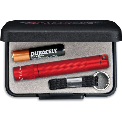 Maglite Solitaire 1-Cell AAA LED Flashlight (Red, Presentation Box)