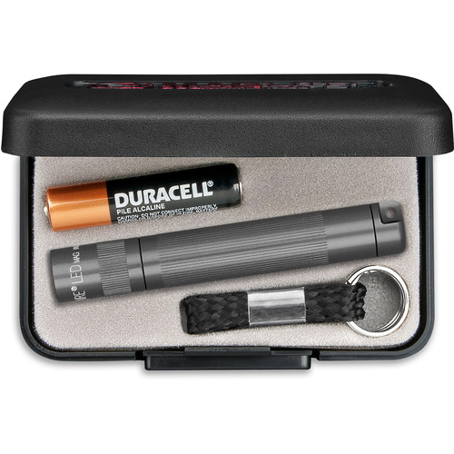 Maglite Solitaire 1-Cell AAA LED Flashlight (Gray, Presentation Box)