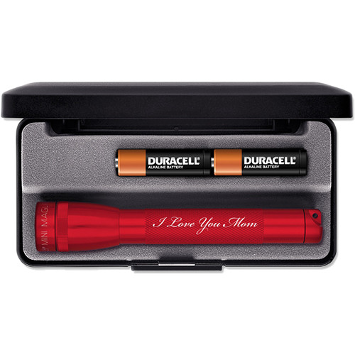 Maglite Mini Maglite 2-Cell AA Engraved Flashlight (Red)
