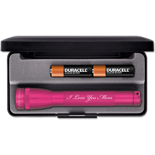 Maglite Mini Maglite 2-Cell AA Engraved Flashlight (Pink)