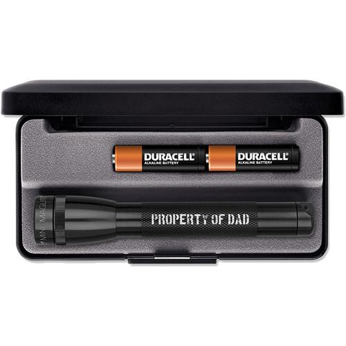 Maglite Mini Maglite 2-Cell AA Engraved Incandescent Flashlight (Black, Presentation Box)