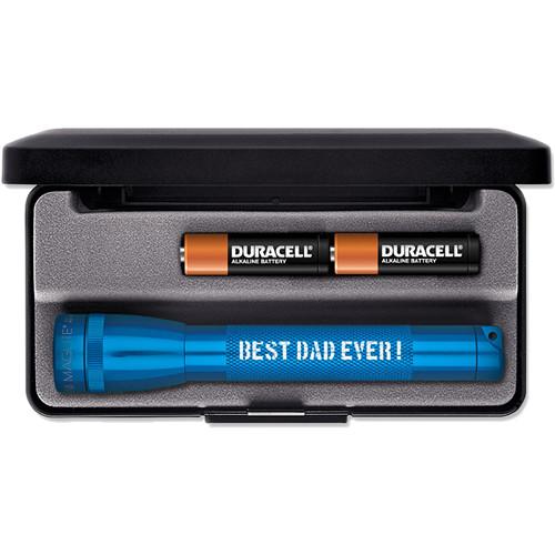 Maglite Mini Maglite 2-Cell AA Engraved Incandescent Flashlight (Blue, Presentation Box)
