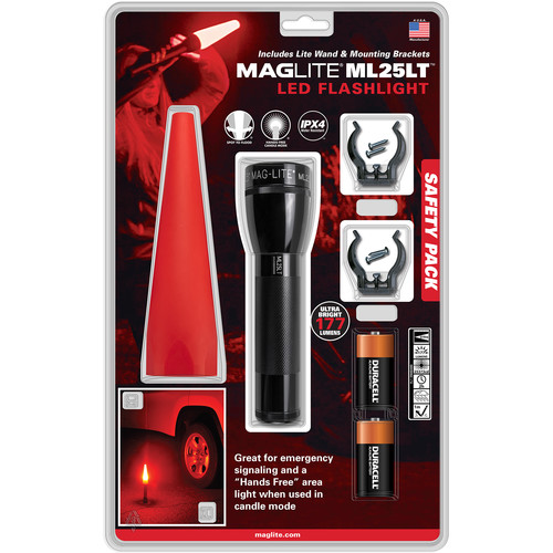 Maglite ML25LT Safety Pack with LED Flashlight