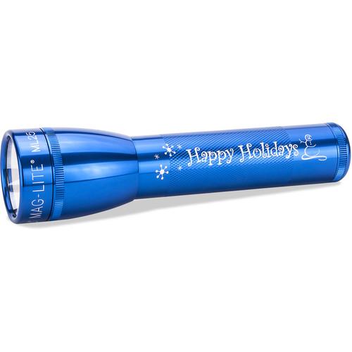 Maglite ML25LT 3C-Cell Engraved LED Flashlight (Blue, Clamshell Packaging)