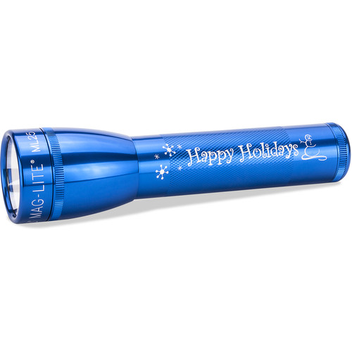 Maglite ML25LT 3C-Cell Engraved LED Flashlight (Blue, Clamshell Packaging)