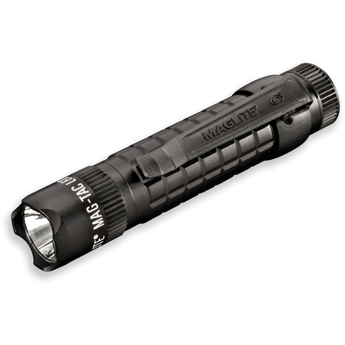Maglite Mag-Tac LED Flashlight (Crowned Bezel, Matte Black)
