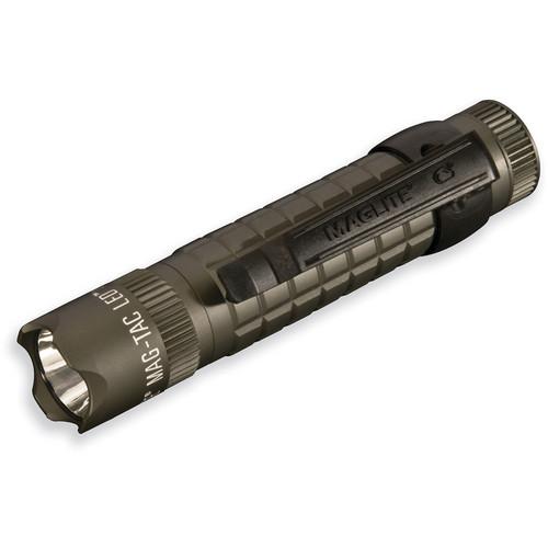 Maglite Mag-Tac LED Flashlight (Crowned Bezel, Foliage Green)
