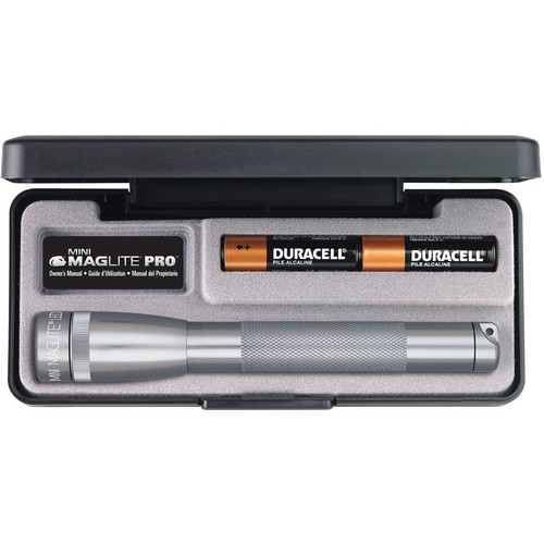 Maglite Mini Maglite Pro 2AA LED Flashlight (Gray)