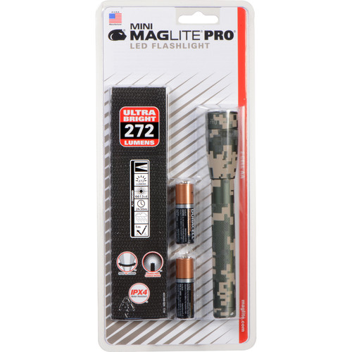 Maglite Mini Maglite Pro 2AA LED Flashlight with Holster (UCP Camo, Clamshell Packaging)