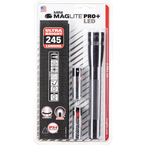 Maglite Mini Maglite Pro+ 2AA LED Flashlight with Holster (Gray)